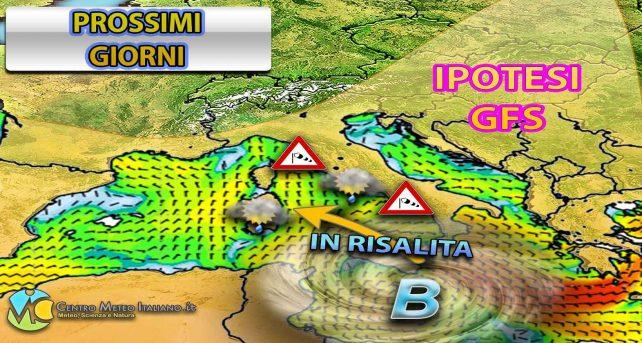 METEO: temporali e nubifragi con la risalita del ciclone mediterraneo